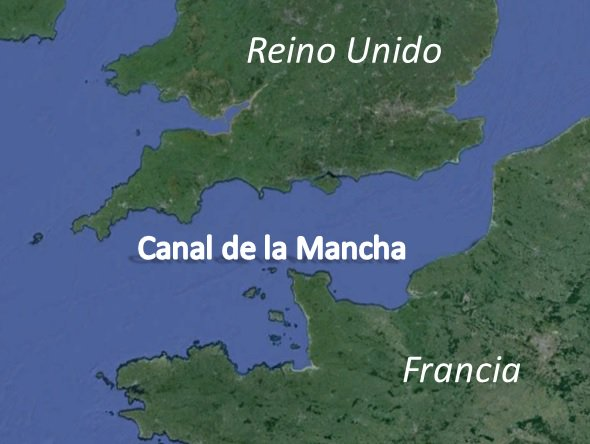 "English Channel = Canal de la Mancha = ""Canal of the spot"" = Funny Story"