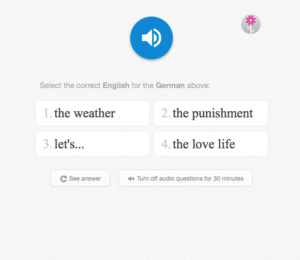 memrise-id from audio