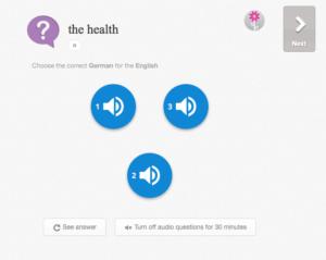 memrise - select correct audio