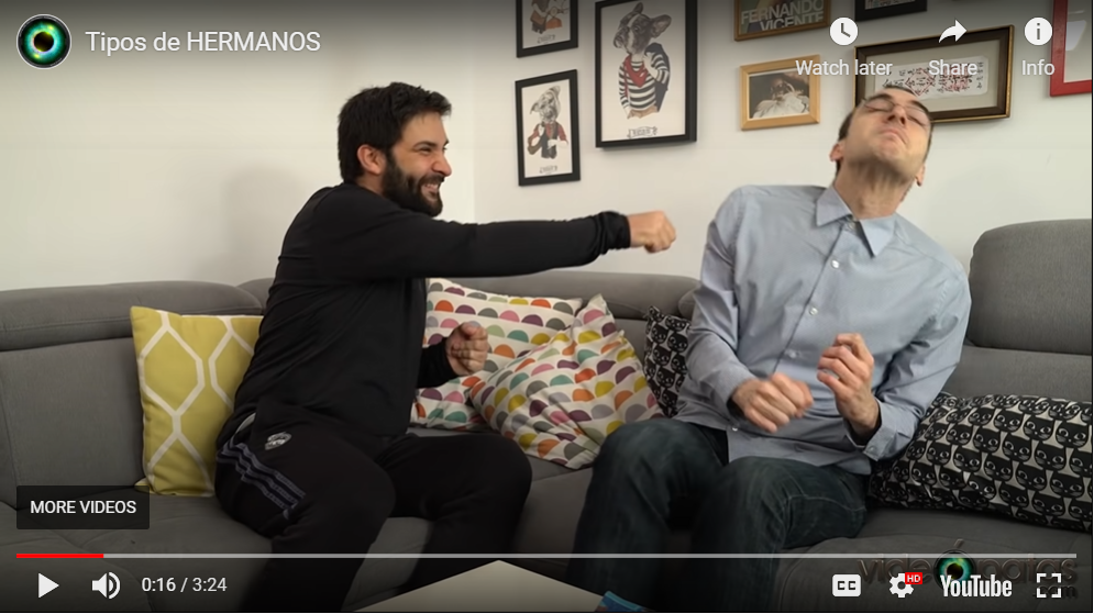 """Spanish Lessons from YouTube Videos #1: """"Tipos de Hermanos"""" by Videópatas"""